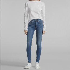 Rag & Bone High Rise Skinny Jeans Size 24